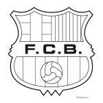 Escudo F.C Barcelona para Colorear