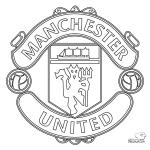 Escudo Manchester United para Colorear