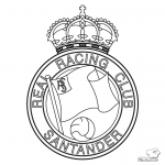 Escudo Racing de Santander para Colorear
