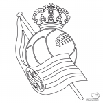 Escudo Real Sociedad para Colorear