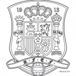 Escudo Selección Española Para Colorear